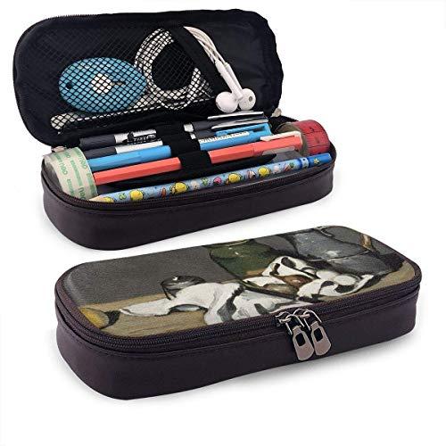 Stillleben mit Kettle Pencil Pen Case Reißverschlusstasche Schreibwarenbeutelhalter Box Organizer für das Middle High School Office College