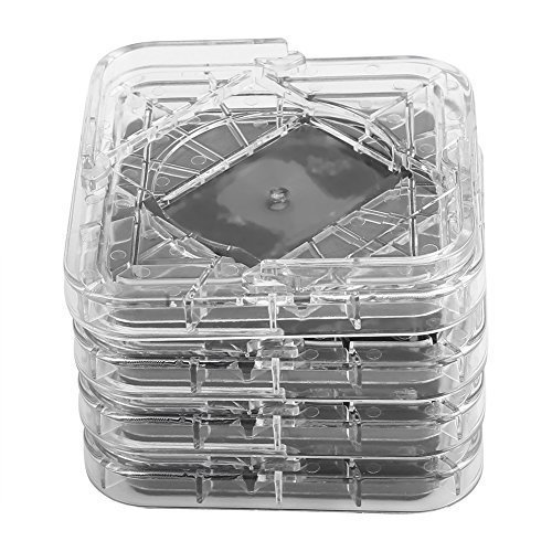 Fockety 3.35 x 3.35 x 0.79 Pulgadas Almohadillas de plástico Antideslizantes de Alta Resistencia para Muebles, Tazas con Ruedas para Muebles, para Silla de Escritorio(Transparent Color)