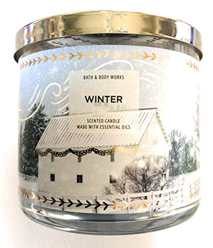 White Barn Bath & Body Works Candle Winter 3 Wick Scented Candle 14.5 oz