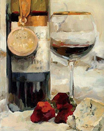Feeling at home STRETCHED-CANVAS-Ganador-Vino-II-Hageman-Marilyn-Cocina-Fine-Art-impresión-enmarcado-en-madera-bars-cm_24x20_in