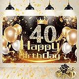 40 Geburtstag Deko, 40 Geburtstag Männer Frauen Schwarz