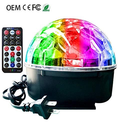 Discobol, 9 kleuren, led kristal, magische bol-licht-stembediening, draaiende kleurrijke lampen, felle kleuren, Kerstmis, kleine lichten, disco stage light A1