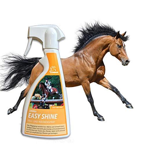 Spray de crinière EMMA I Spray pour chevaux I Spray brillant I Spray démêlant I Spray de soin I Nettoie démêle le I Aide à peigner la crinière et la queue 500 ml