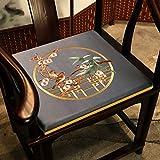 WJWJ Silk Bestickt Aus Stoff Stuhlkissen, Chinesischer Stil Paisley Boden Sitzkissen Stuhl Office...