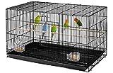 Yaheetech Jaula de pájaros apilable Ancha con Perchas, 76 x 45,5 x 45,5 cm