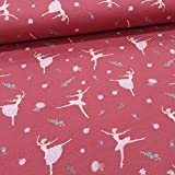 Schickliesel Jersey Stoff Meterware Ballerina mattrot