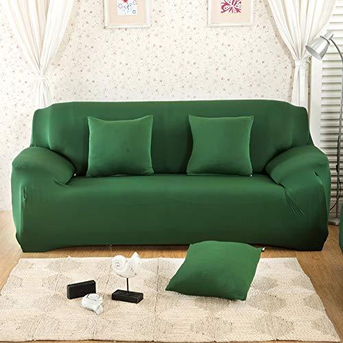 ASCV Funda de sofá de Color sólido para Sala de Estar Blanca como la Nieve Funda de sofá elástica a Prueba de Polvo Funda de sofá Toalla de sofá elástica A3 2 plazas