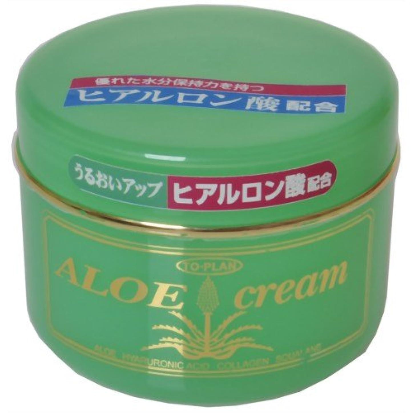 眠っているブランド名バルセロナTO-PLAN(トプラン) ヒアルロン酸?アロエエキス?スクワラン配合アロエクリーム170g