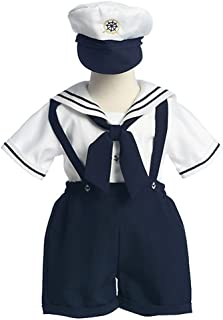 Litoベビー幼児用男の子ホワイト海軍セーラーイースターOutiftセット124t
