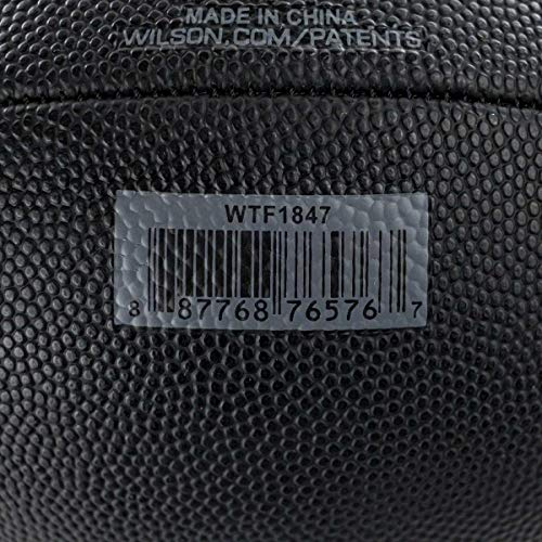 Wilson Unisex-youth NFL Junior Size Football, Black, Uni