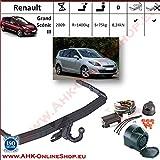 Attelage remorque avec Faisceau 13 broches | Renault Grand Megane Scenic III de 2009- | col de cygne démontable avec outil