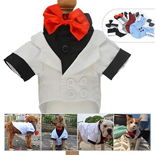 longlongpet Haustierkleidung für Hunde und Katzen, Smoking mit Schleife, Hochzeitsanzug,...