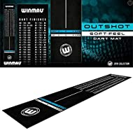 Winmau Outshot Soft-Feel Dart Mat The world's first full length soft-feel fibre dart mat Featuring non-slip PVC composite edging and underlay Features official tournament specification oche measurements and is printed with every finish from 100 to 41...