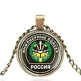 Ingeniería Rusa Nuevas Tropas Diseño Militar Cúpula Colgante Collar Hombres Mujeres Encanto...