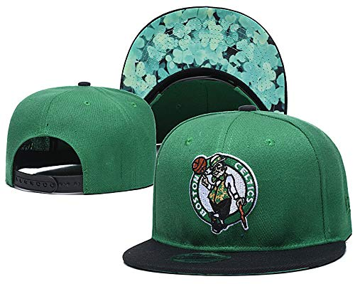 Boston Celtics Men's Basketball Embroidered Retro SNAP Shot Snapback Adjustable Hat Cap Green Style 7