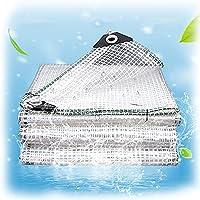 XKUN シースルーシート雨よけ透明ターポリン ポシートキャノピー 晴れ ポリエチレンタープ、 強化タープ 庭のために、 保育園の防水シート 温室のために、 グロメット付き (Color : Clear, Size : 1.85M x 1.4M)