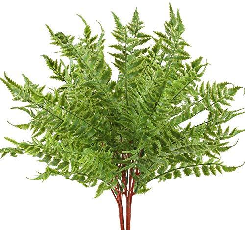 XHXSTORE 2pcs Künstliche Pflanzen Boston Farn Kunstpflanzen Frühling Plastikpflanzen Künstliche Grünpflanzen Unechte Pflanzen für Drinnen Draußen Balkon Garten Topf Hochzeit Dekoration Grün