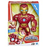 Playskool Heroes Marvel Super Hero Adventures Mega Mighties Iron Man Collectible 10' Action Figure, Toys for Kids Ages 3 & Up