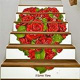 Valentinstag Element kreative selbstklebende Treppenaufkleber Digitaldruck-002-rot_18 * 100cm * 6pcs / 360g