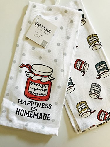 Happiness is Home Made Kitchen Towels Set of 2