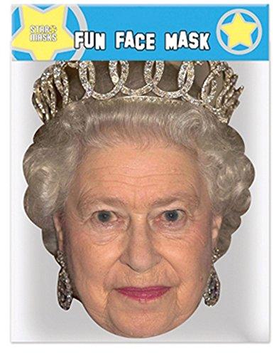 empireposter Queen Elizabeth - Maske aus hochwertigem Glanzkarton, mit Augenlöchern