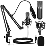 Ankuka USB Condenser Microphone Studio Cardioid Computer PC Microphone Kit 192kHz/24 bit