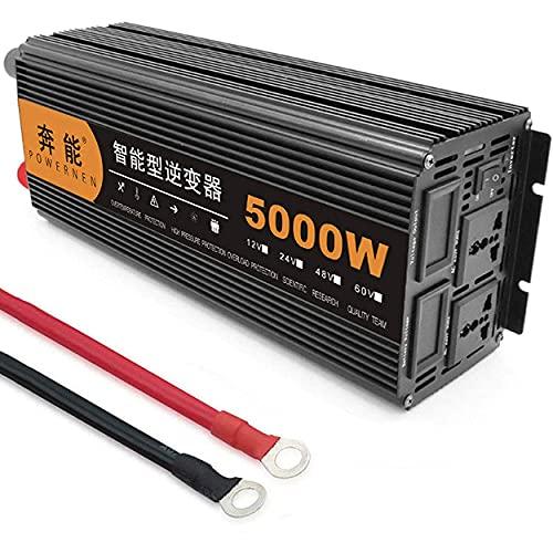 5000W 6000W 8000W 9000W 12000W 15000W Inversor de corriente de onda sinusoidal pura DC 12V / 24V a AC 220 / 240V Convertidor de onda sinusoidal con salidas de CA duales y para puertos USB,5000W-24V