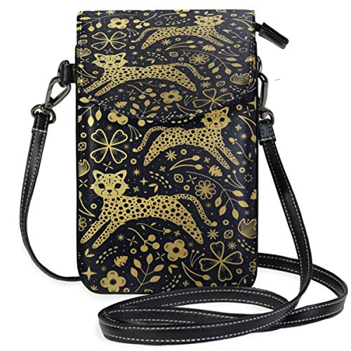 XCNGG bolso del teléfono Cheetah Cell Phone Purse Wallet for Women Girl Small Crossbody Purse Bags