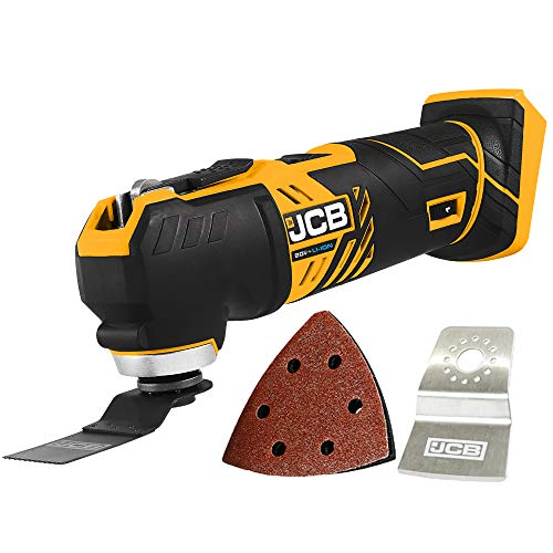 JCB Tools  JCB 20V Cordless Oscillating Power Tool  Multi Tool  No Battery  Bare Unit  For Home Improvements and Professional Use Trimming Plunge Cuts Drywall Wood Plastic Metal