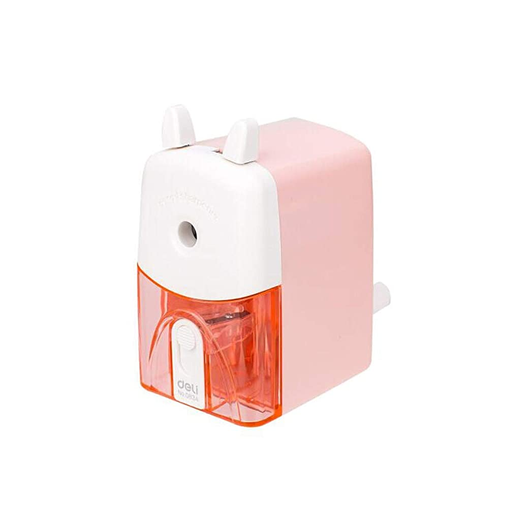 補助金義務づける列車Hengtongtongxun 鉛筆削り、手動の省力化鉛筆削り、青/ピンク、直径8 mmの最大サポートペン、オフィス学習アシスタント 良い商品 (Color : Pink)