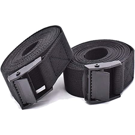 2 pieces Heavy duty Tie Down Strap Luggage Ratchet Belt for Small Trailer for Lighter Loads on Truck