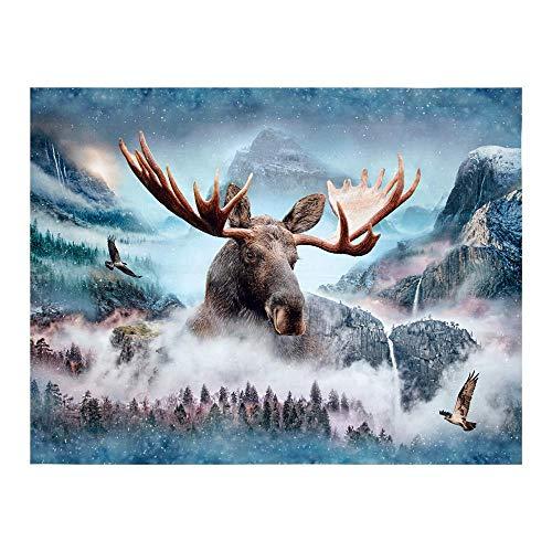 Hoffman Fabrics Hoffman Digital Call of The Wild Moose 33inPanel Waterfall, Panel, Multi