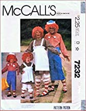 McCall's 7232 Sewing Pattern, Boys' and Girls' Raggedy Ann & Andy Costumes,Check Listings for Size