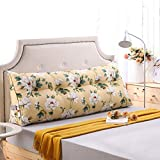 Reading Upholstered Triangular Pillow Large Bolster Headboard Queen Size Gap Filler for Adults Dorm Office Mother's Day Lumbar Double Sofa Beds with Removable Cover