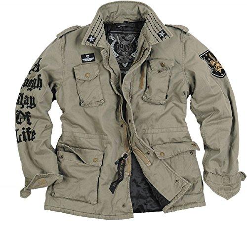 Alpha Industries winterjas Rough - Biker - Vliegerblouson - M65 stijl in de kleur tent - herfst winter koud sneeuw gevoerd