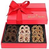 Hazel & Creme Chocolate Covered Pretzel Gift Box - Valentines Day Gift - Birthday, Corporate,...
