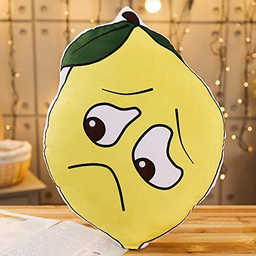 yfkjh Broma de Siesta, Bolsa de expresión Creativa, Almohada de Descanso, como ácido limón, sostiene cojín de Almohada Agraviado 45 cm más o Menos