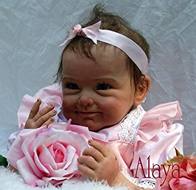 Ethnic Dolls Biracial Reborn Baby Doll,Alaya, African American Girl 22 inch Cute Realistic Baby Black Skin Kids Toys