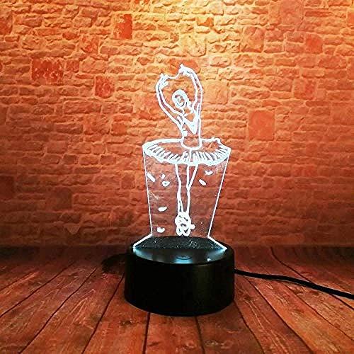 Luz Nocturna 3D Bailarina Lámpara De Óptico Ilusión De LVYONG Con Control Remoto 16 Cambio De Color Luces Led Usb De Táctil Mejor Regalo Para Niños.