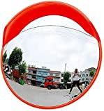 Espejo de tráfico exterior lente gran angular, espejo de seguridad, espejo de ángulo muerto, espejo convexo, espejo antirrobo, espejo de ángulo muerto, gran ángulo de visión, almacén redondo, 45 cm
