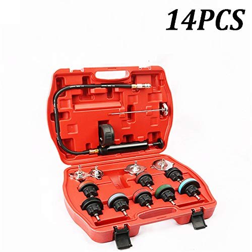 Best Prices! Universal 14 Pieces Radiator Pressure Tester Vacuum Cooling System Test Detector Set In...