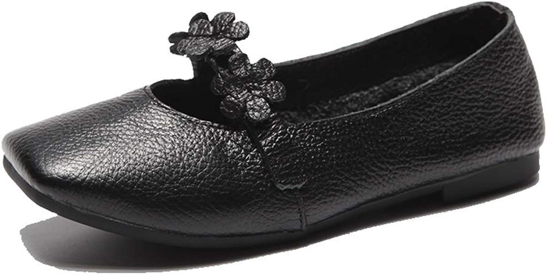 LIURUIJIA shoes Women Fashion Handmade Genuine Leather Loafers PDX-107-10