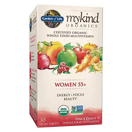 Garden of Life My Kind Organic Women 55+ Multivitamin, Energy, Focus, Beauty, 30 Tablets