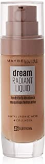 Maybelline New York Dream Radiant Liquid - Base de Maquillaje Líquida Tono Miel claro (045 Light honey) 30 ml