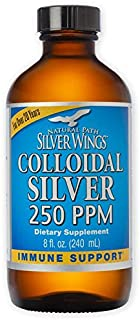 Natural Path Silver Wings Colloidal Silver Mineral Supplement, 250 Ppm, 8 Fluid Ounce