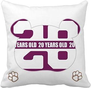 OFFbb-USA Twenty Years Life Bear - Funda de almohada cuadrada