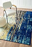nuLOOM Waterfall Vintage Abstract Area Rug, 4' x 6', Blue