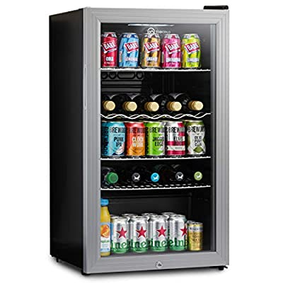 Subcold Super85 LED - Under-Counter Fridge   85L Beer, Wine & Drinks Fridge   LED Light + Lock and Key   Energy Efficient (Silver, 85L) by Subcold