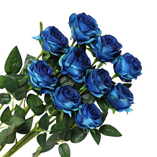 Veryhome - Ramo de Rosas Artificiales de Seda para decoración de Bodas,...