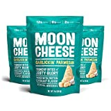 Moon Cheese, Garlickin' Parmesan, 100% Parmesan Cheese, Low-carb 2 oz, Keto-Friendly, high protein snack alternative to protein bars, cookies, and shakes (Pack of 3)